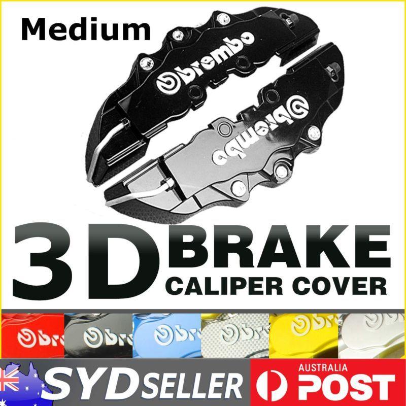 1Pair Sport Model 3D Brake Caliper Cover Brembo Look Racing Front or Rear Black(China (Mainland))