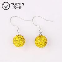 E041 Elegant wholesale fashion design AB clay earring for women