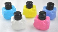 Free shipping Nail art Bottles,Lovely Pressure Bottle/Nail art/plastic pressure bottle ,make up remover bottle
