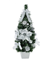 free shopping Christmas window decoration 60x22cm high-grade silver Christmas tree decoration