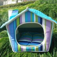 Free shipping pet bed house Fashion fancy nest  washable A011 blue house