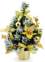 free shopping Christmas window display 30x17cm sticky white Christmas decoration gold tree / Christmas tree bonsai