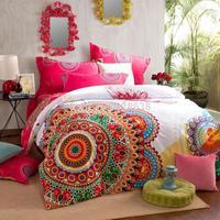 TNT free 100% cotton thick sanding boho bedding sets king size double-side print roupa de cama quilt/duvet cover sets bedspread