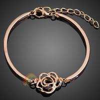 R1B1 Chic Hollow Out Rose Flower Bracelet Hand Chain Brace Lace Ornament