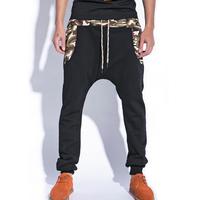 HOT!!Skull black trousers men korean harem pants hip hop 2014 fashion mens low crotch summer spring casual baggy dance