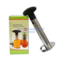 As Seen On TV, Easy Pineapple Corer Slicer Parer Cutter , Stainless Steel Kitchen Tool Fruit Cutter Peeler, 144pcs/lot