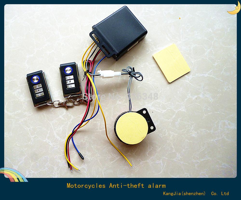 Мотоцикл - анти-сигнализация двойной вспышка имеет два 12 В универсальный пульт дистанционного управления дистанционного диапазон 15 м