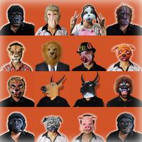 Free Shipping Animal masks Halloween party latex dog colugo pig put call tiger horses sheep and chickens