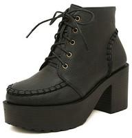 black platform shoes woman motorcycle pumps high heels girls martin booties women ankle winter autumn boots female GX140228