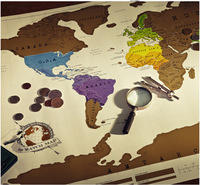 new travel essential life explore scratch map world map creative sticker