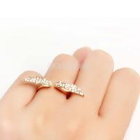 Clear Crystal Angel Wing Finger Ring Rhinestone Woman Lady Fashion #gib