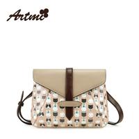 Autumn new arrival artmi2014 sweet cat color block the trend vintage shoulder bag messenger bag female