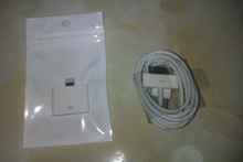 30pin to 8pin Adapter for iphone 5 + One 6pin Data Cable for iphone 4/4s(China (Mainland))