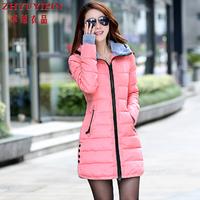 Women's Cotton-padded Jacket 2014 Winter Medium-long Down Cotton Plus Size Jacket Female Slim Ladies Jackets And Coats #296