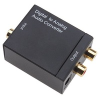 EzCap Audio Converter Toslink / Optical / Coaxial Digital to Analog RCA R/L Audio Converter Adapter - Drop Shipping
