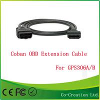 Coban GPS Tracker Accessories OBD extension Cable cord for obd II 2 tracker GPS306A/B Rastreador Perseguidor del GPS de coche