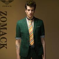 Men's Jacket  blazersNew 2014W-405 French Zuo Make England Sleeve Slim Men suit wholesale suits -049