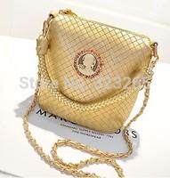 $15 free shipping Soil Hockin woven bucket bag, shoulder bag, chain bag, satchel,messenger bags,golden color