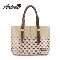 Autumn new arrival artmi2014 sweet the trend of fashion vintage the cat print shoulder bag female