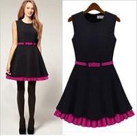 S-XL vestido festa 2014 vestidos femininos European style fashion women clothing black rose tank casual dress women party dress