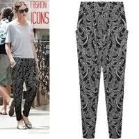 XL,XXL,3XL,4XL,5XL women Harem Pants Woman Clothing calcas femininas 2014 new Leopard Print sport Pant sweatpants Fat Women Wear
