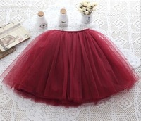 5pcs/lot Top Quality TUTU Ball Gown Petti Girls Skirt Children Skirts red pink blue green orange Kids Long Skirt, A-bg270