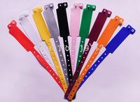 One-time off wristband Plastic wrist strap PVC ID bracelets 250*25MM 50pcs/lot  Free shipping