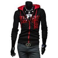 2014 Winter brand new American Street Men Hoodies Casual Autumn Letter Printed Zipper Hoodies For Men