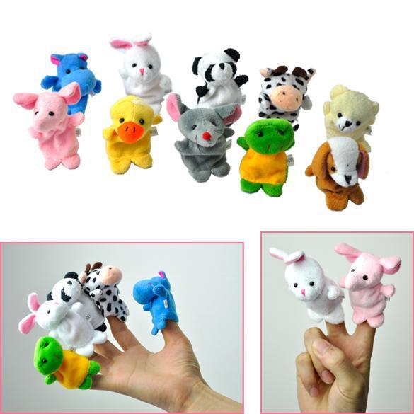 2014 Brinquedos Meninas Boneca Frozen 10 Pcs Velvet Animal Finger Puppets /baby Toys/ Toys For Child Favor Rpg Kid Bed Story(China (Mainland))