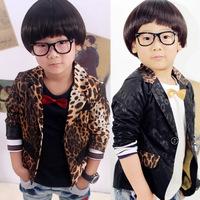 2014 hot sale !!!new fashion baby boy's leisure jacket joker leopard print Suit coat children