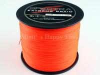Hot sale PE Dyneema Braided Fishing Line 500M 90LB 0.50mm 547 Yard Spectra Braid Orange