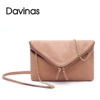 2014 Women Leather Handbag  Vintage PU Leather Envelope Bag Chain Crossbody  Bag Women Messenger Bag