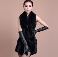 new 2014 winter High quality 100% real mink fur coat women warm clothes female Genuine leather long vest clothing 6985