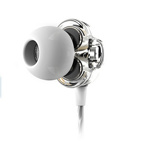 2014 new fashion noise isolating earphone headset wired Dual Dynamic in-ear headset mobile phones / pop/ jazz /rap/(China (Mainland))