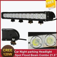 Car Driving Light Styling  LED120W 21.5'' Single Row Cree ATV Truck UTV Pickup pick-up Van Wagon Camper Night Parking Headlight