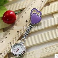 DHL ship 200pcs discount sale Steel Double heart Quartz Doctor Nurse Watch New style fashion quartz medical watches
