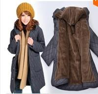 Loose plus size clothing women's fertilizer coats winter fashion 2014 long coat jacket women outerwear 6XL medium-long xxxxxxl