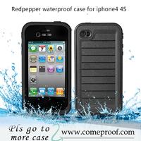 2014 new arriving waterproof case for iphone 4s redpepper diving case dots design shock dustproof 10pcs