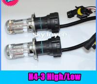 Free shipping 55W modified car xenon headlamps H4 pendulum footlights light one distance car headlights, belt line