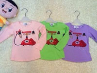 Retail 2014 New Brand Baby&Girl's fashion casual cotton T-shirt/Children's long sleeve O-Neck print outdoor clothing+Free Shipp