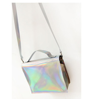 Free Shipping mini-package small bags laser shiny shoulder bag messenger bag handbag