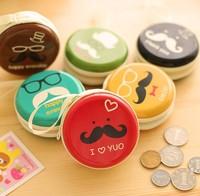 Free ship 1lot=10pcs/korean kawaii Mr. beard hand-held zero wallet  Korean creative zero wallets  cute coin purse receive bag