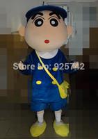 Mascot  Customize cartoon clothes paragraph blue school bag cos cartoon dolls Crayon Shin Chan mascot costume Free Shipping