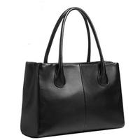 Fashionable casual 2014 women's handbag trend genuine leather solid color handbag one shoulder women's bags