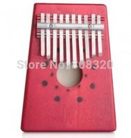 Free shipping!!! 10 Key Kalimba Mbira Likembe Sanza Thumb Piano Pine Wood Musical Instrument Red