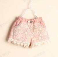 5pcs/lot New 2014 baby girls fashion lace cute casual princess shorts children kids summer clothes C021 ziD041604
