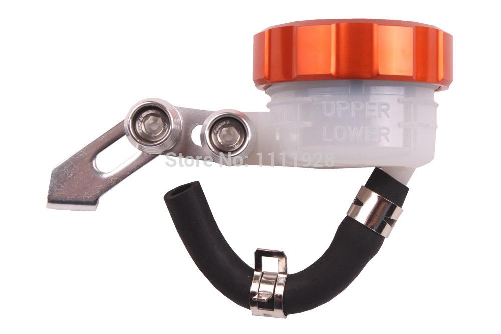 For CBR600RR CBR1000 RR Orange CNC Motorcycle Front Brake Clutch Master Cylinder Oil Fluid Reservoir Tank Cap Free Shipping(China (Mainland))