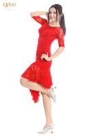 Hot2014Modern dance top lace long-sleeve companionship dance square dance clothes