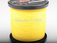 Wholesale Yellow PE Dyneema Braided Fishing Line 500M 100LB 0.55mm 547 Yard Spectra Braid fishing line FREE SHIPPING