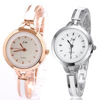 Women's Elegant Wristwatch Round Dial Thin Watchband Quartz Analog Watch Bracelets Rose Gold